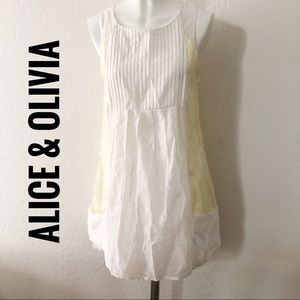 Alice & Olivia White sequin dress